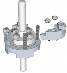 Hot Bolting clamp 3d